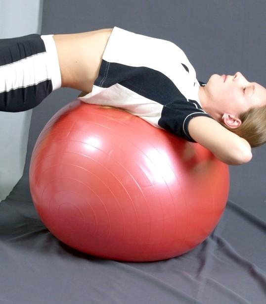 Як накачати гімнастичний м'яч