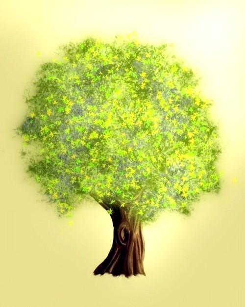 Як навчити дитину малювати дерева