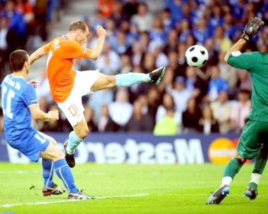 Як поставити удар у футболі