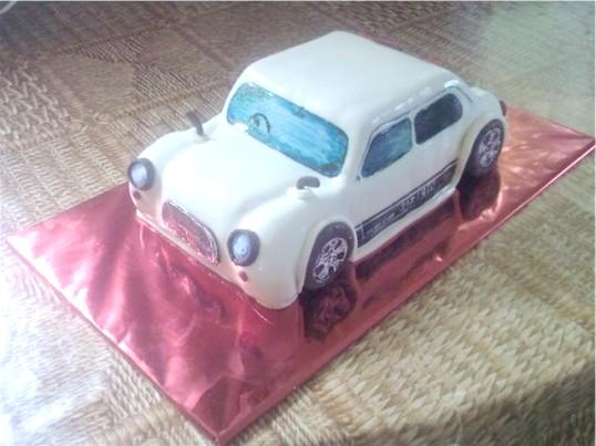 Як зробити торт машинку