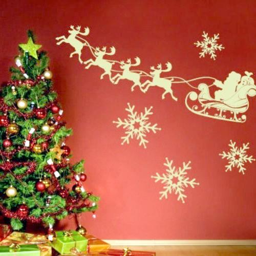 Як прикрасити стіни для нового року
