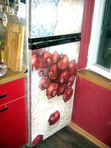 Як розписати холодильник
