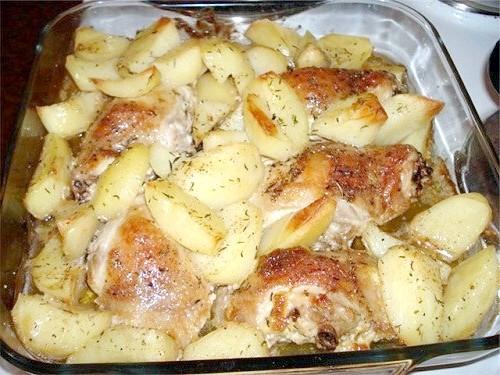 Як запекти стегенця з картоплею