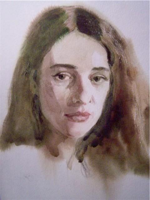Як намалювати портрет аквареллю