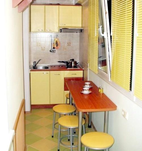 Як зробити з балкона кухню